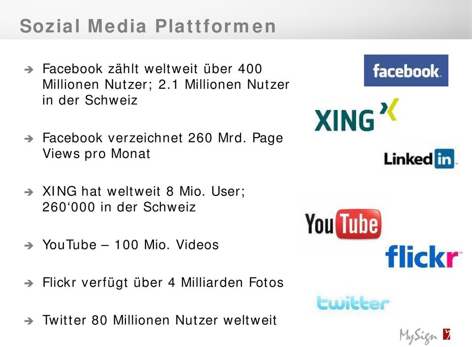 Page Views pro Monat XING hat weltweit 8 Mio.