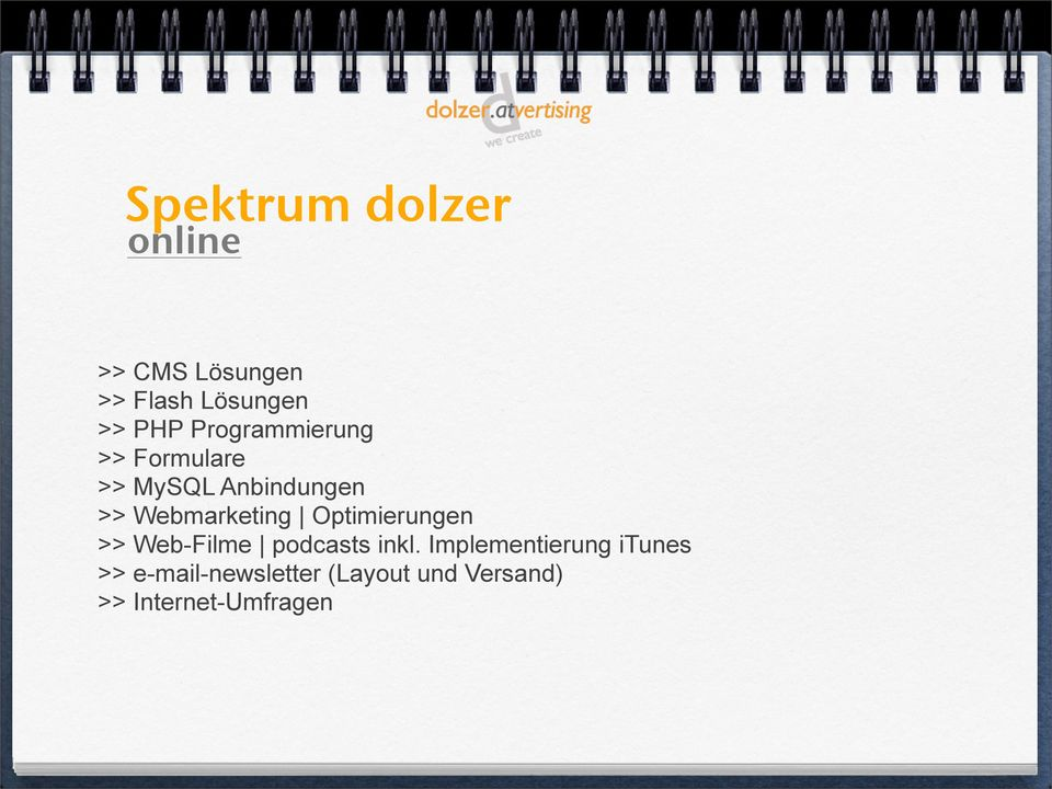 Webmarketing Optimierungen >> Web-Filme podcasts inkl.