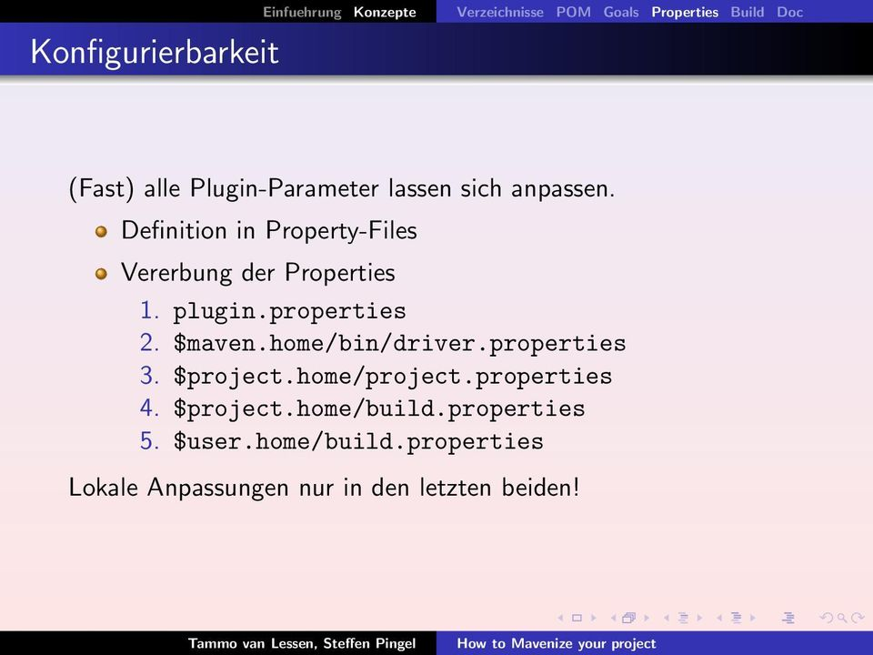 plugin.properties 2. $maven.home/bin/driver.properties 3. $project.home/project.properties 4.