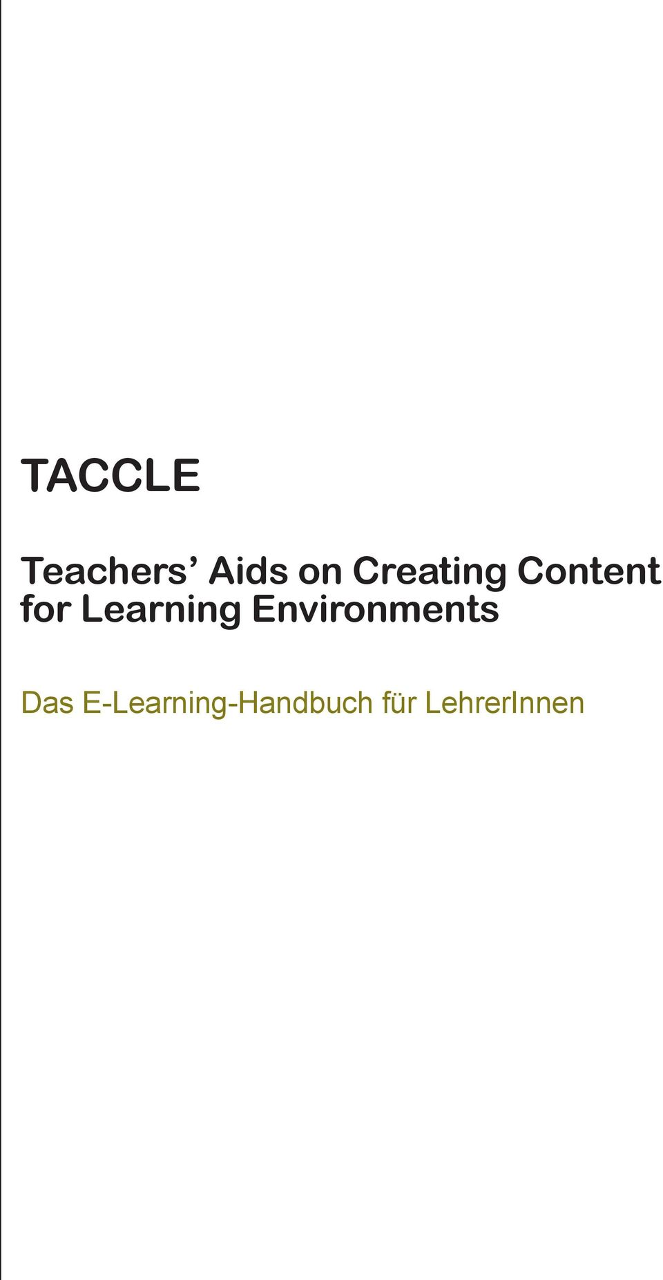 Learning Environments Das