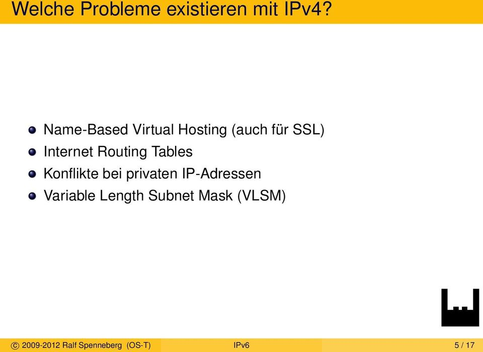 Routing Tables Konflikte bei privaten IP-Adressen