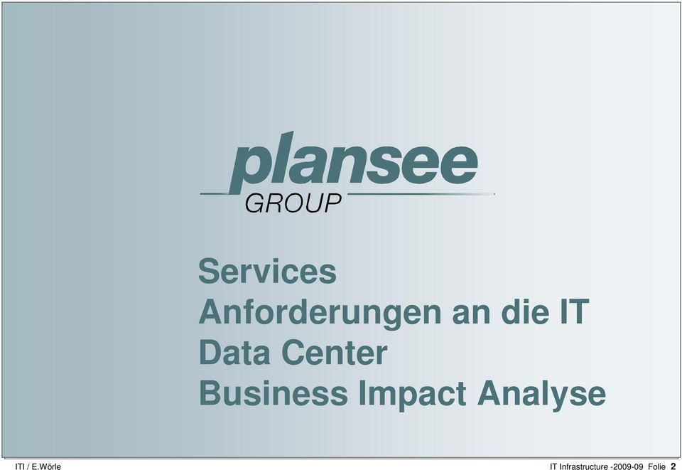 Business Impact Analyse