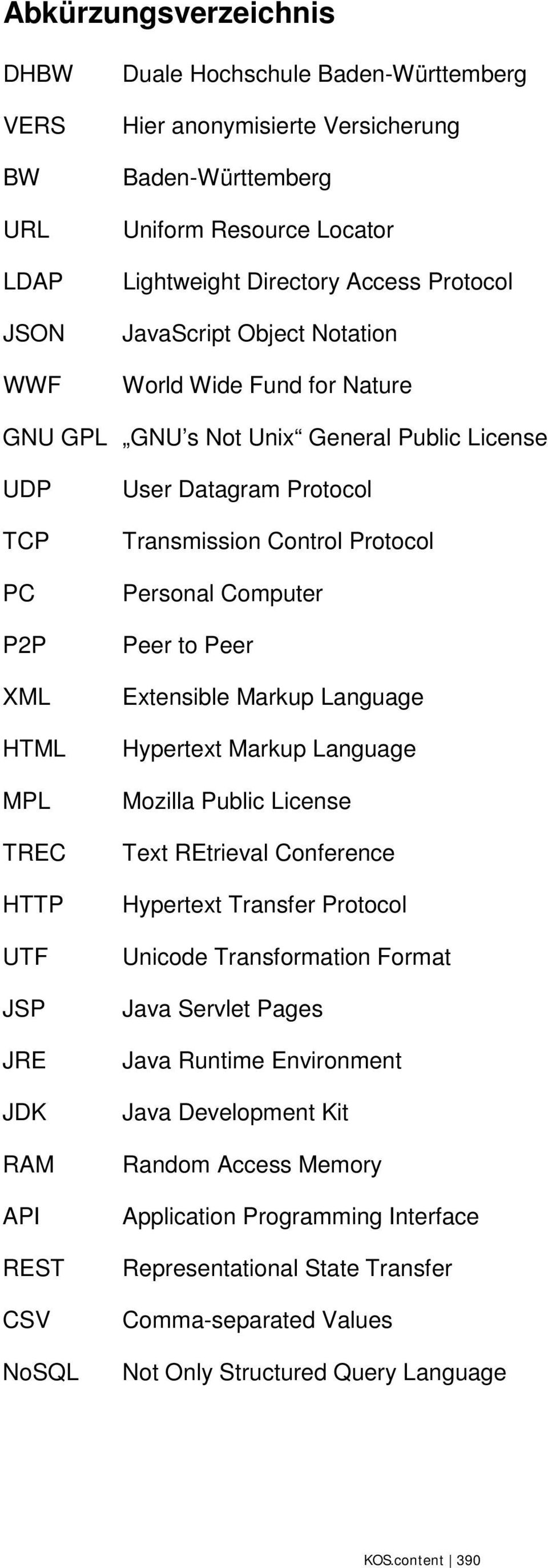Protocol Transmission Control Protocol Personal Computer Peer to Peer Extensible Markup Language Hypertext Markup Language Mozilla Public License Text REtrieval Conference Hypertext Transfer Protocol