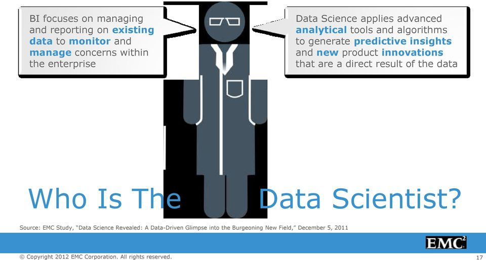 insights and new product innovations that are a direct result of the data Who Is The Data Scientist?