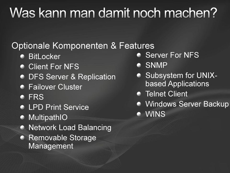 Load Balancing Removable Storage Management Server For NFS SNMP