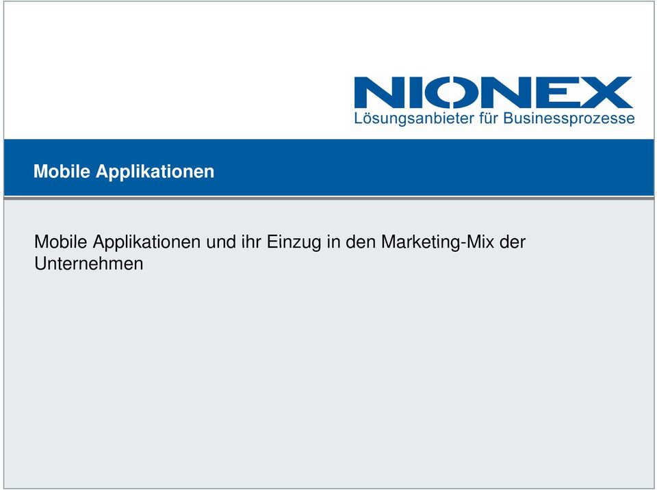 Marketing-Mix der Mobile  Marketing
