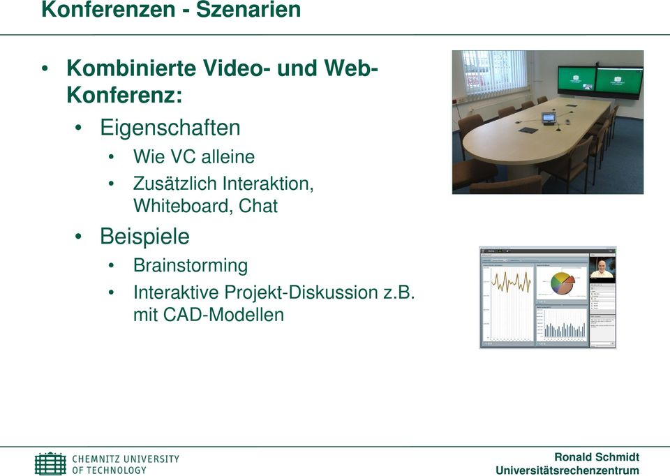 Interaktion, Whiteboard, Chat Beispiele