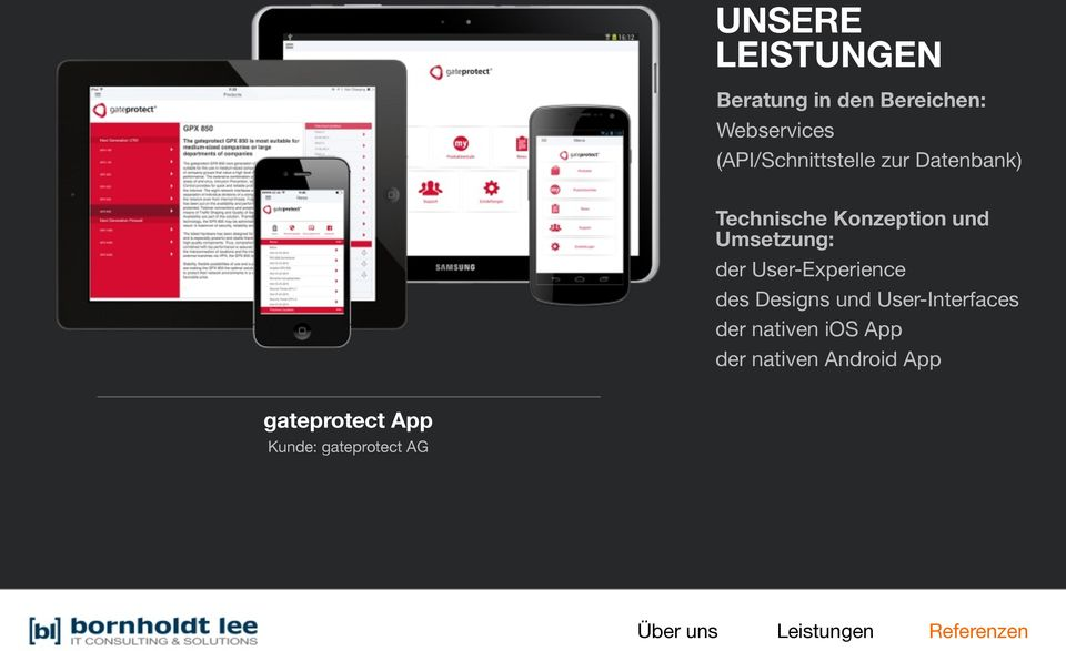 User-Experience des Designs und User-Interfaces der