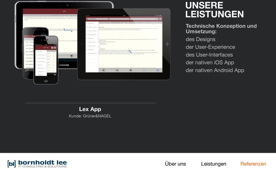 User-Interfaces der nativen