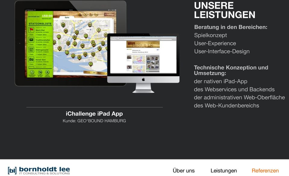 BOUND HAMBURG der nativen ipad-app des Webservices und