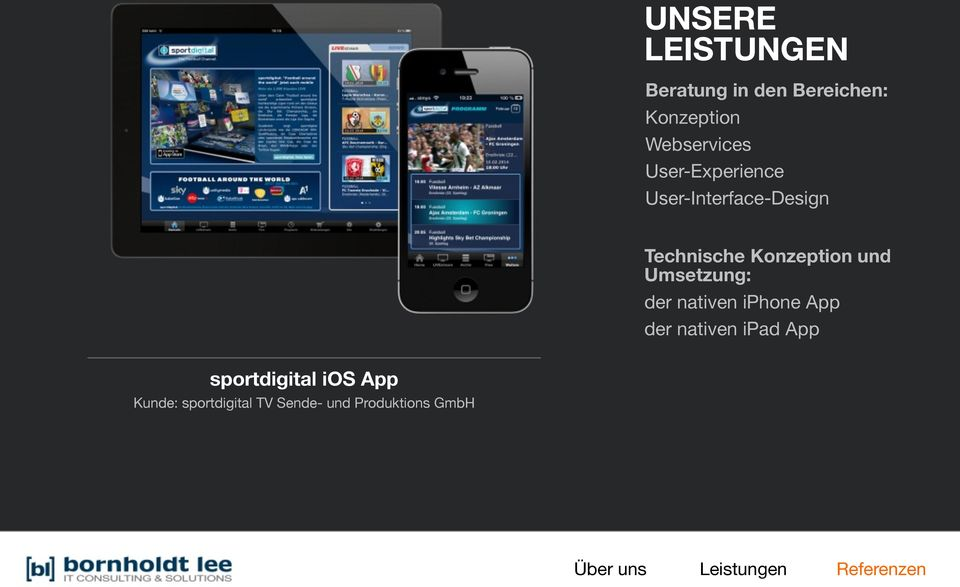 iphone App der nativen ipad App sportdigital ios