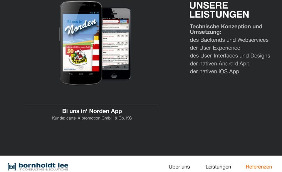 Designs der nativen Android App der nativen