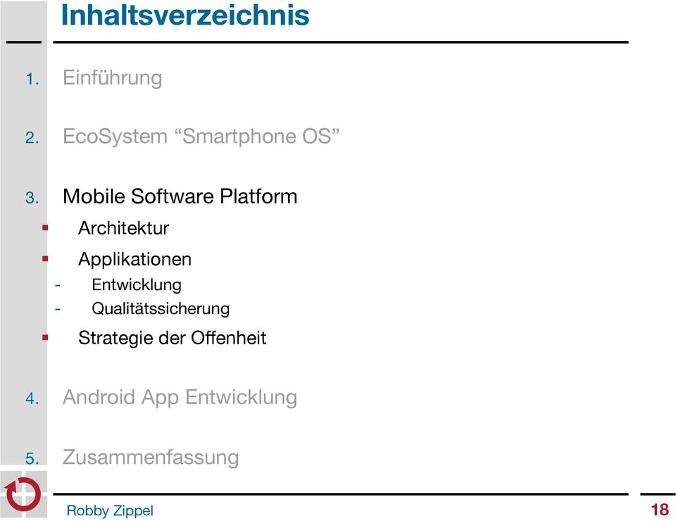 Mobile Software Platform Architektur Applikationen -