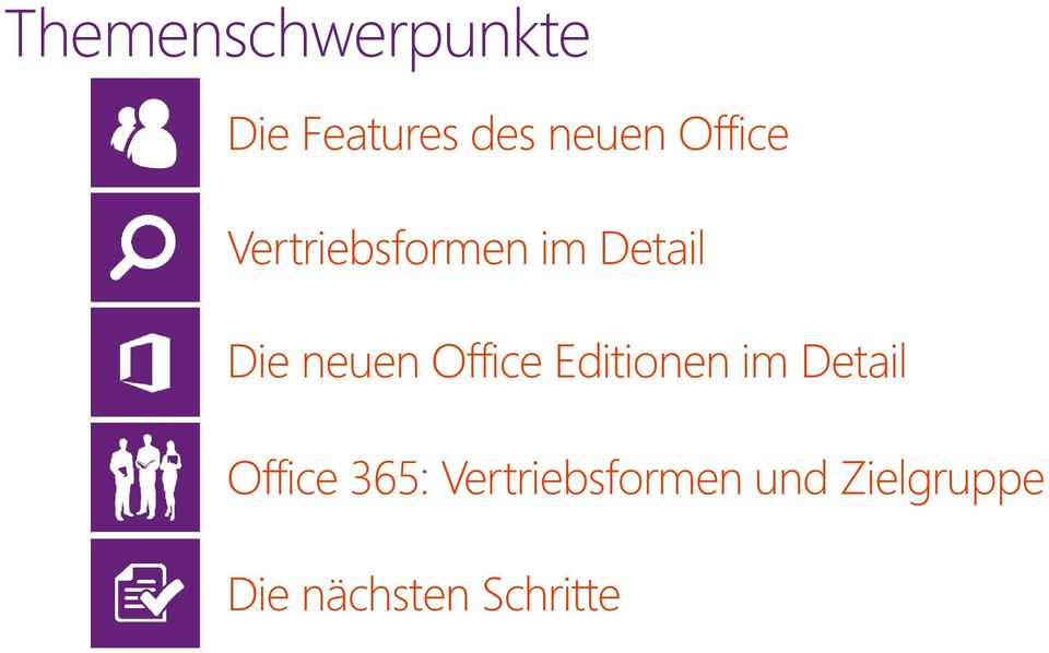 Office Editionen im Detail Office 365: