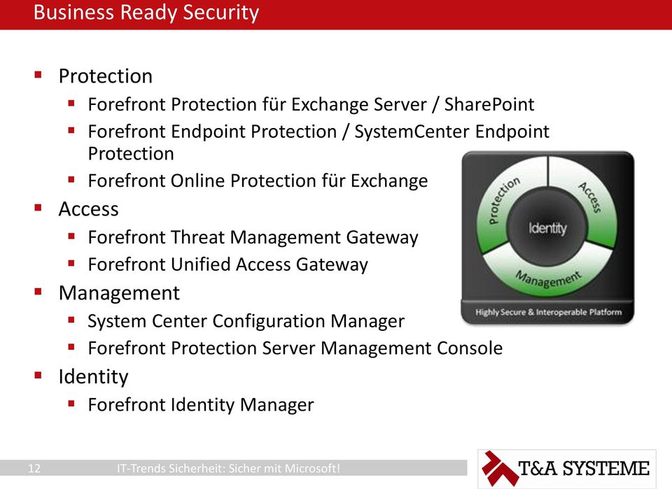 Access Forefront Threat Management Gateway Forefront Unified Access Gateway Management System Center