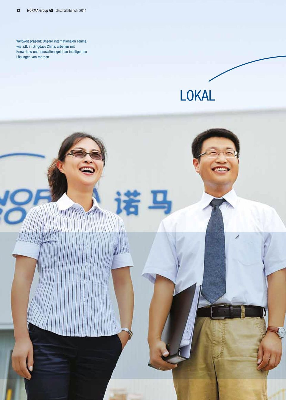 in Qingdao / China, arbeiten mit Know-how und