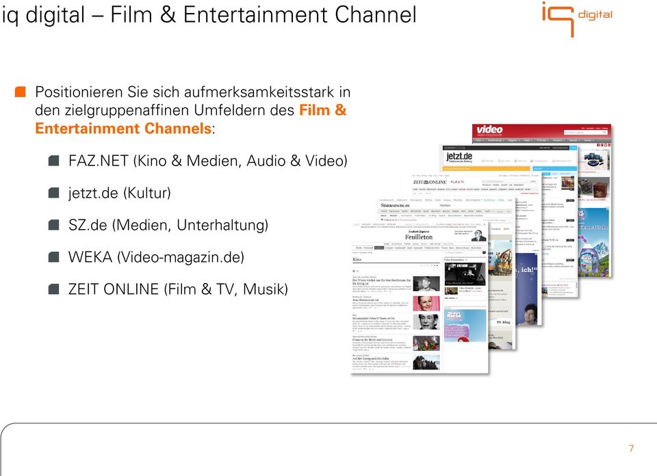 Entertainment Channels: FAZ.NET (Kino & Medien, Audio & Video) jetzt.