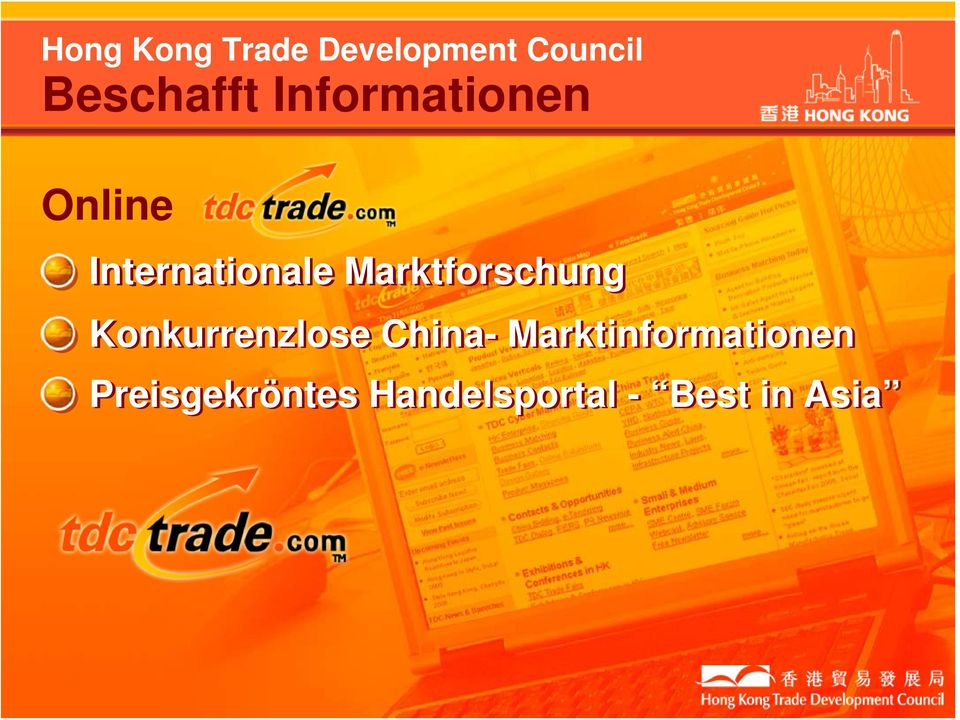 Marktforschung Konkurrenzlose China-