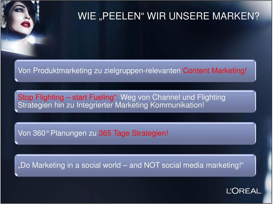 Stop Flighting start Fueling : Weg von Channel und Flighting Strategien hin zu