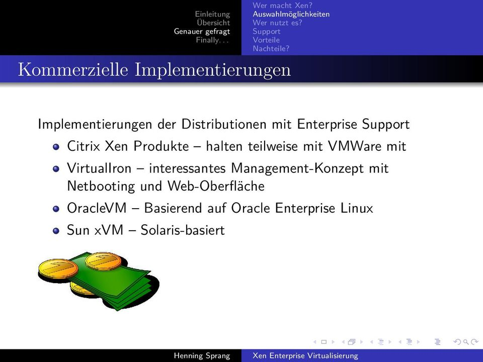 Implementierungen der Distributionen mit Enterprise Support Citrix Xen Produkte halten