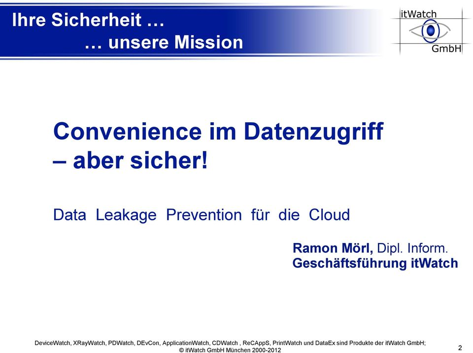 Data Leakage Prevention für die Cloud