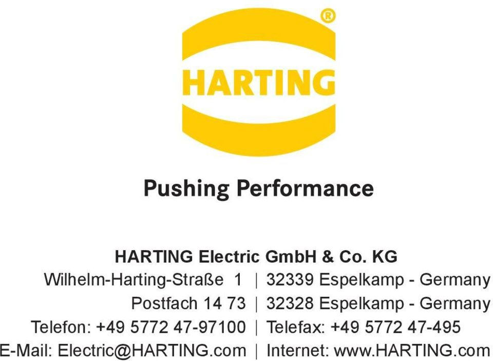 5772 47-97100 E-Mail: Electric@HARTING.