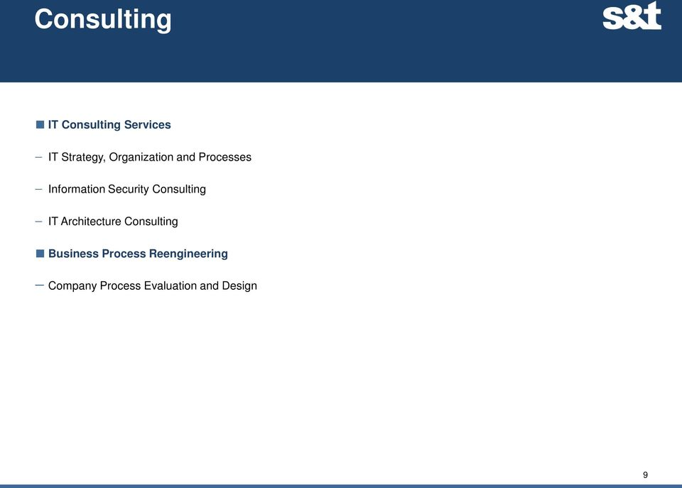 Consulting IT Architecture Consulting Business