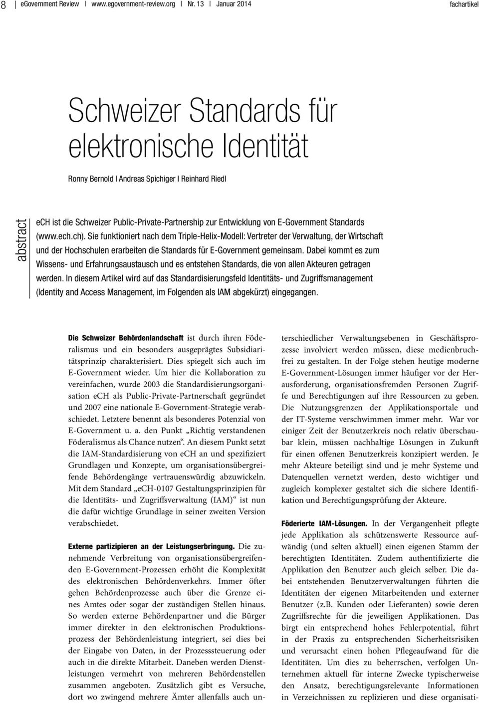 von E-Government Standards (www.ech.ch).