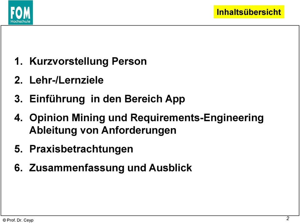 Opinion Mining und Requirements-Engineering Ableitung von