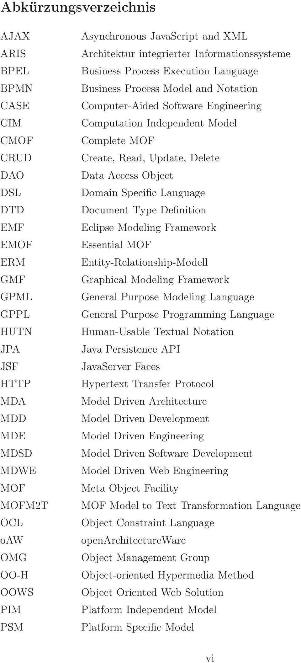 Model Complete MOF Create, Read, Update, Delete Data Access Object Domain Specific Language Document Type Definition Eclipse Modeling Framework Essential MOF Entity-Relationship-Modell Graphical