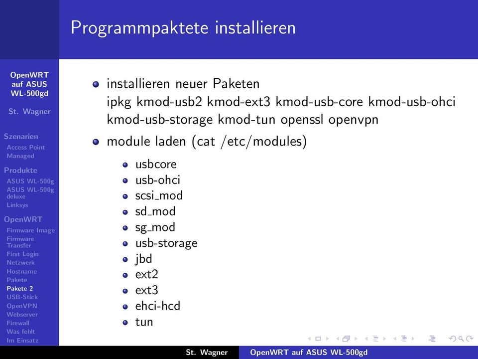 kmod-tun openssl openvpn module laden (cat /etc/modules) usbcore