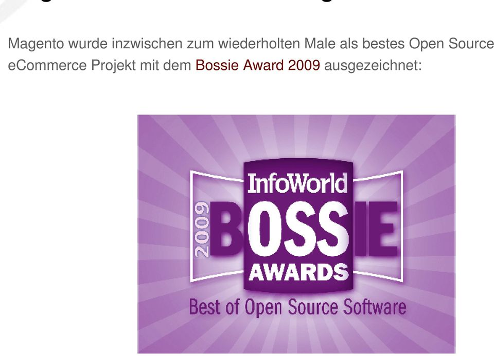Open Source ecommerce Projekt