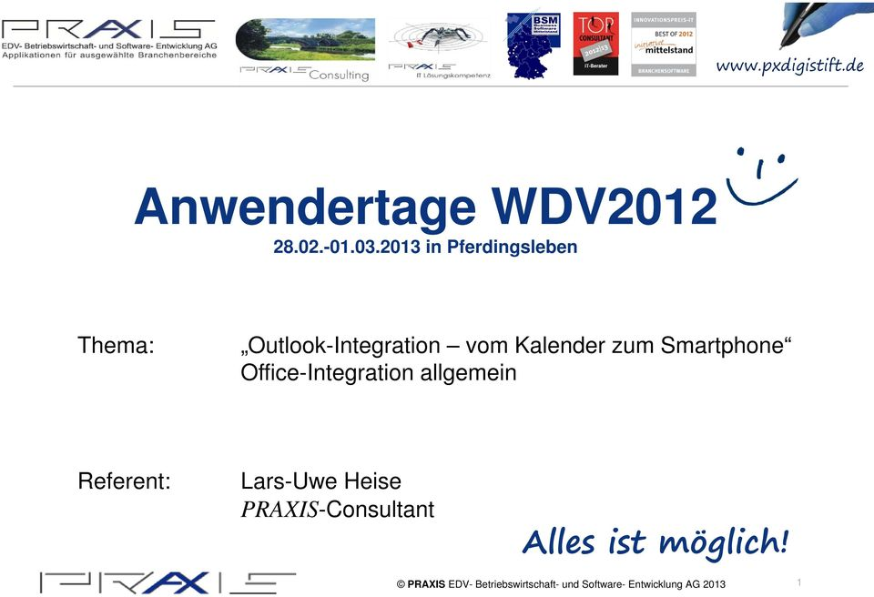 vom Kalender zum Smartphone Office-Integration