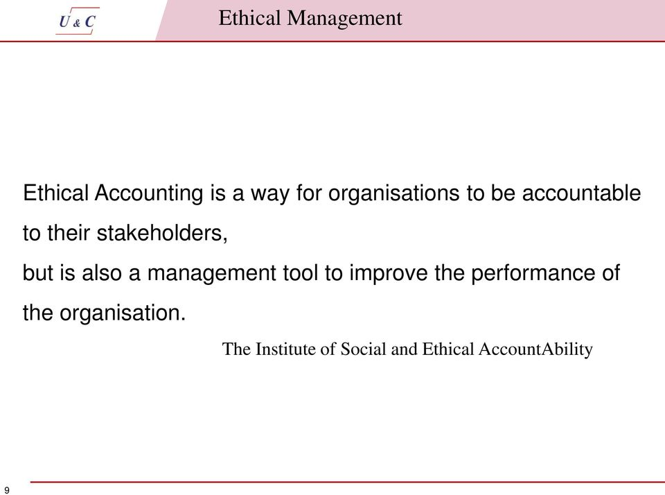 is also a management tool to improve the performance of