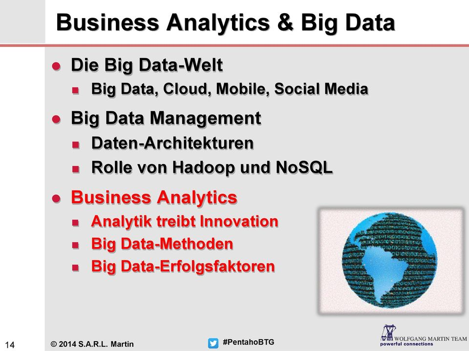 von Hadoop und NoSQL Business Analytics Analytik treibt Innovation