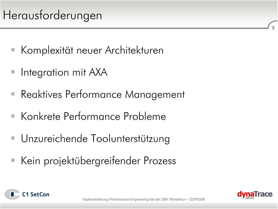 Performance Management Konkrete Performance