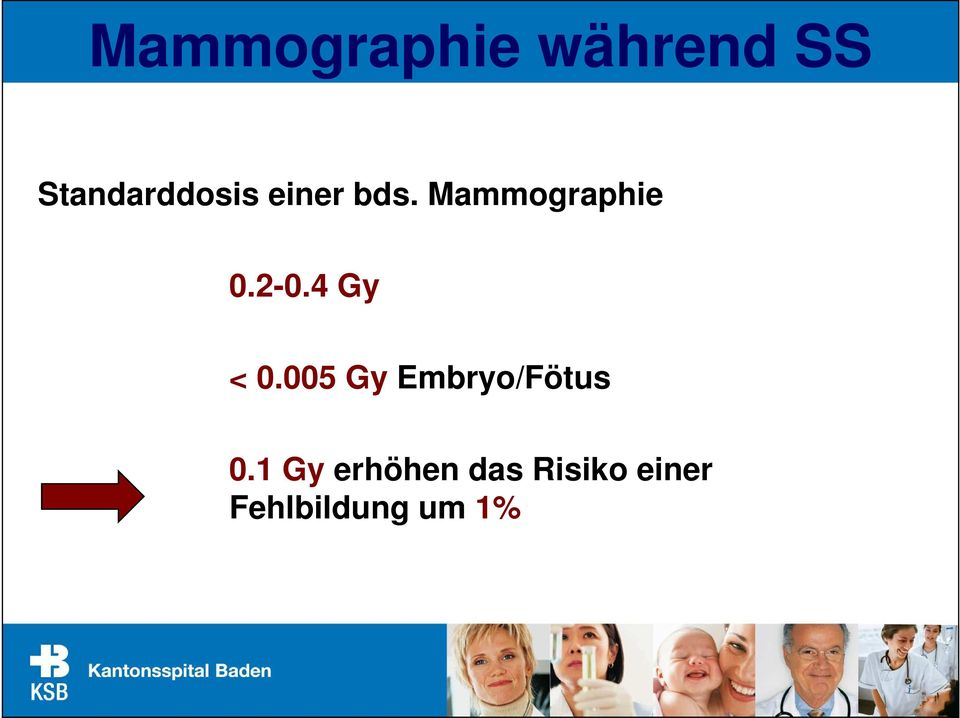 Mammographie 0.2-0.4 Gy < 0.