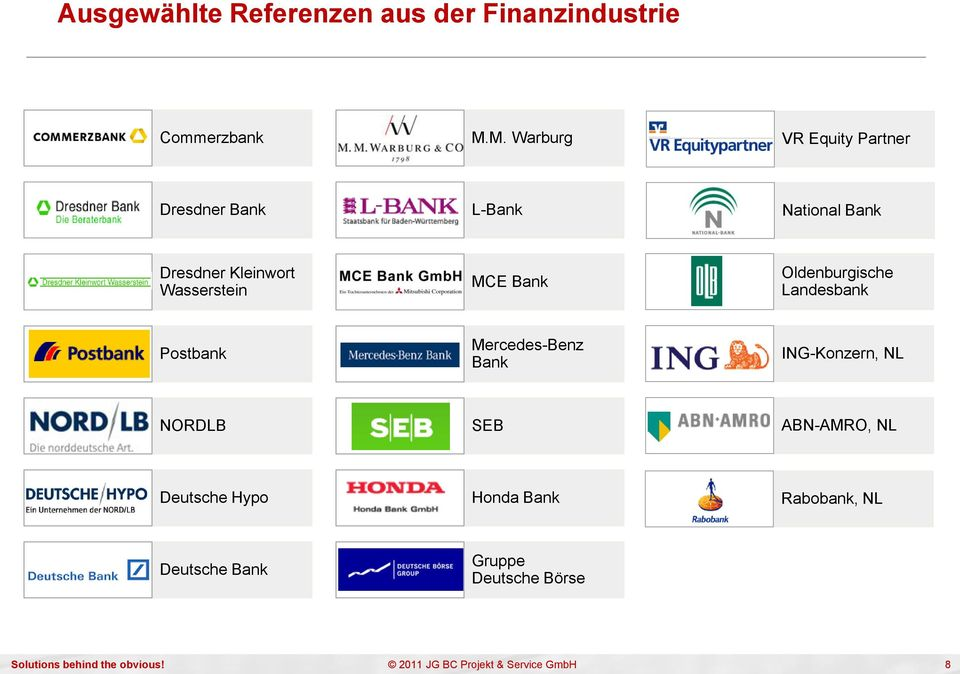 Wasserstein MCE Bank Oldenburgische Landesbank Postbank Mercedes-Benz Bank