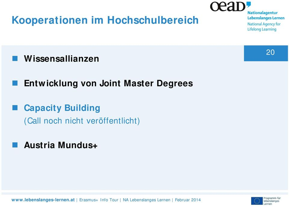 Joint Master Degrees Capacity Building