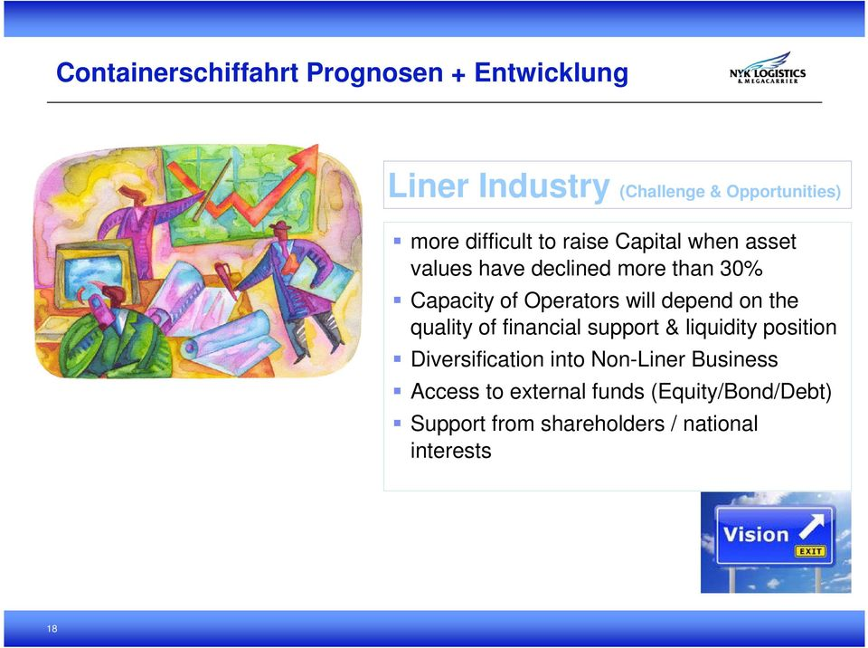 financial support & liquidity position Diversification into Non-Liner Business Access