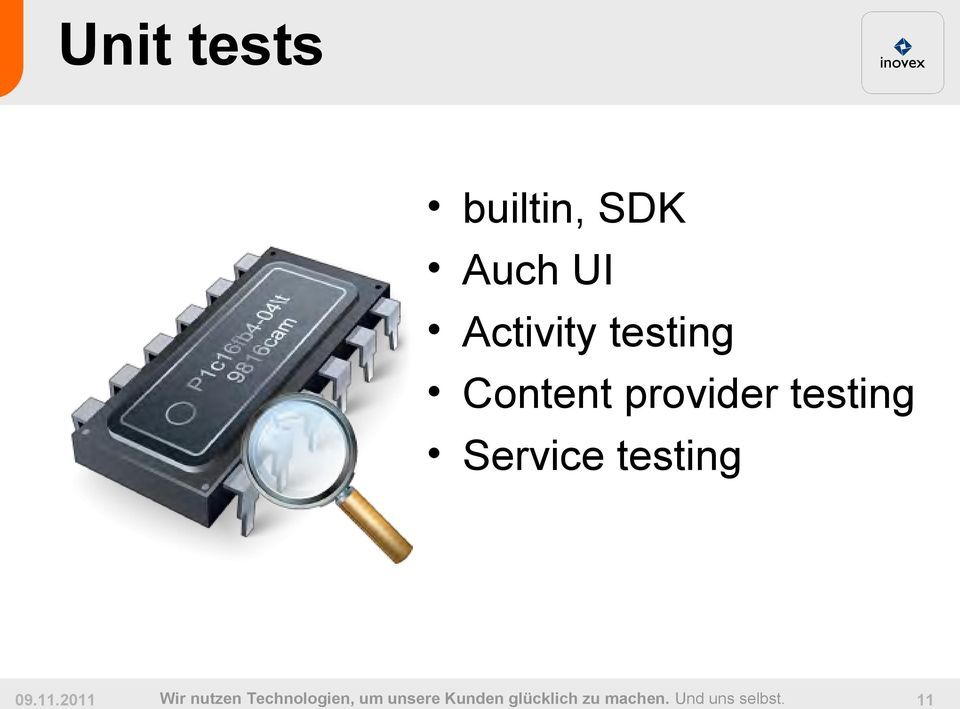 Content provider testing