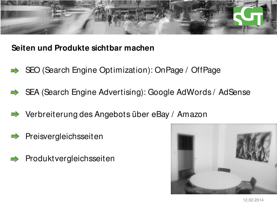 Advertising): Google AdWords / AdSense Verbreiterung des