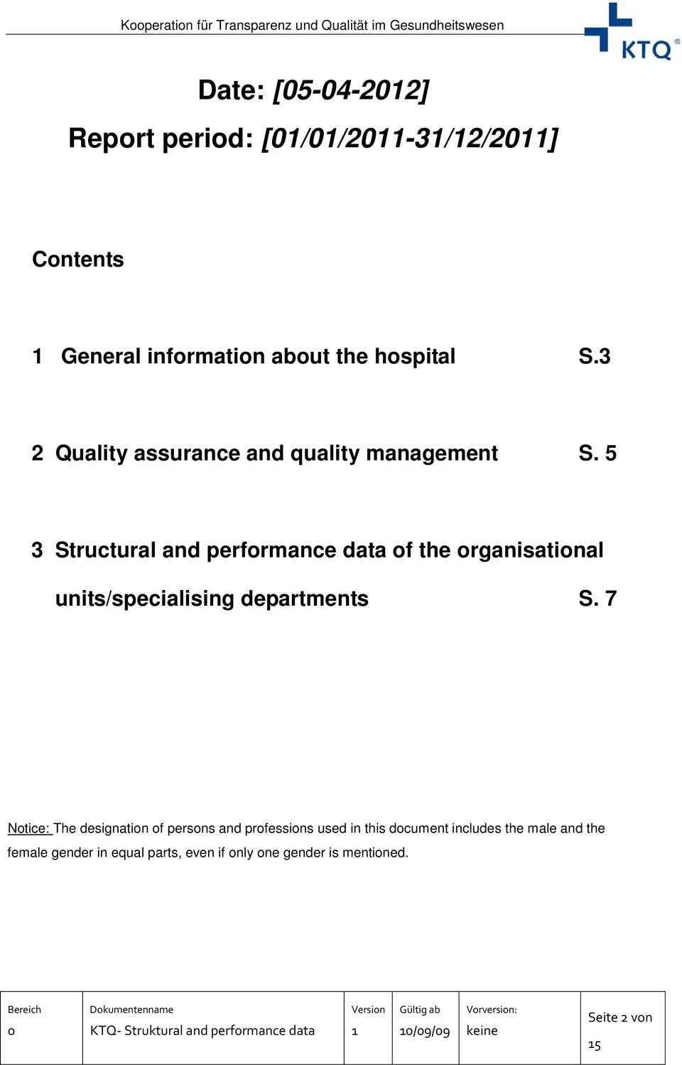 5 3 Structural and performance data of the organisational units/specialising departments S.