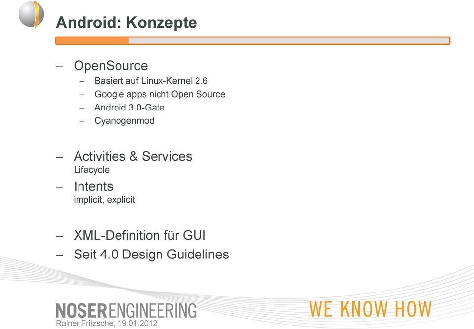 0-Gate Cyanogenmod Activities & Services Lifecycle