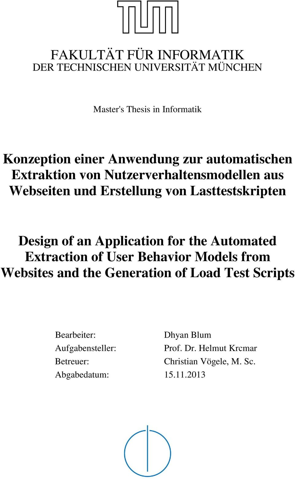 an Application for the Automated Extraction of User Behavior Models from Websites and the Generation of Load Test