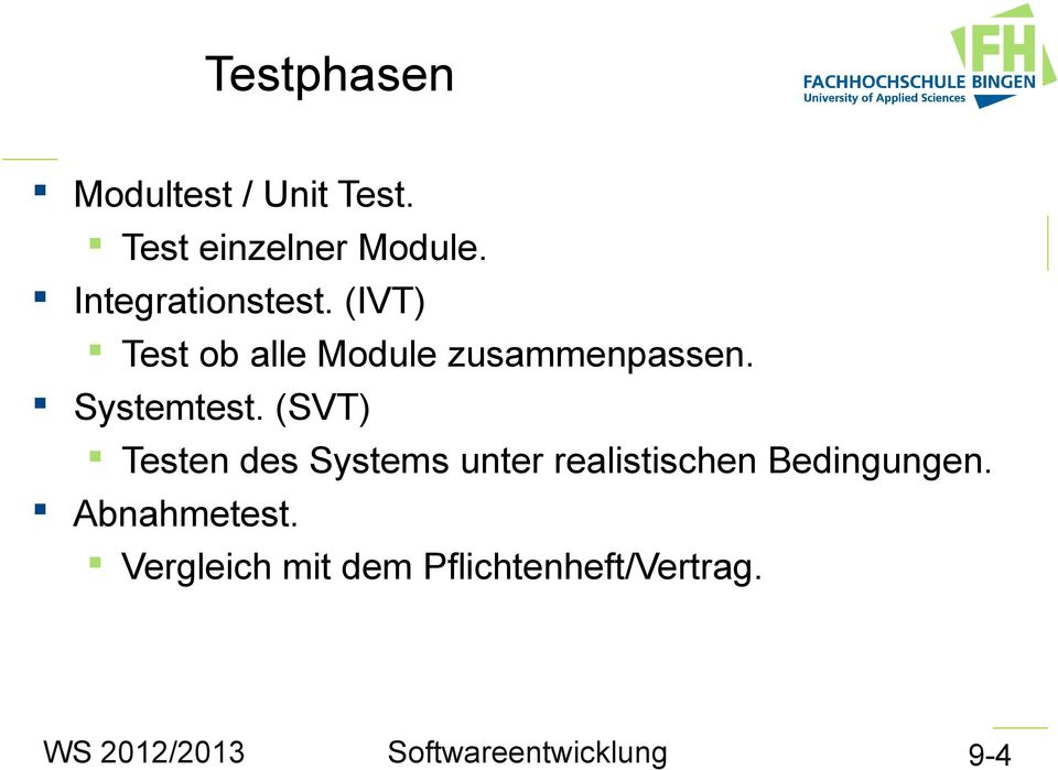 Systemtest.