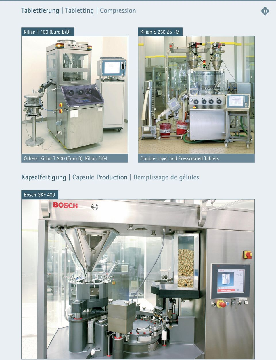 Kilian Eifel Double-Layer and Presscoated Tablets