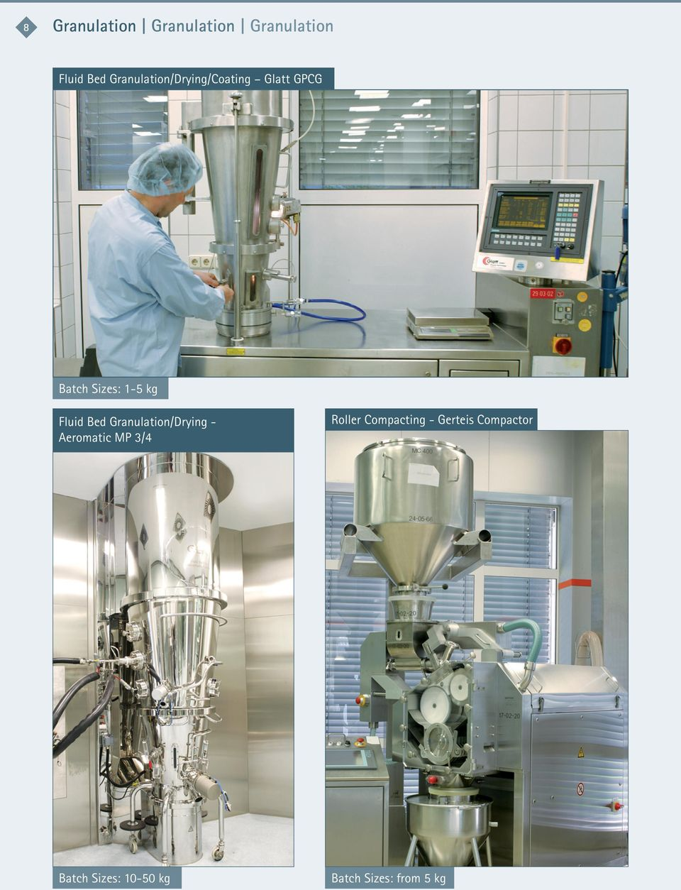 Fluid Bed Granulation/Drying Aeromatic MP 3/4 Roller