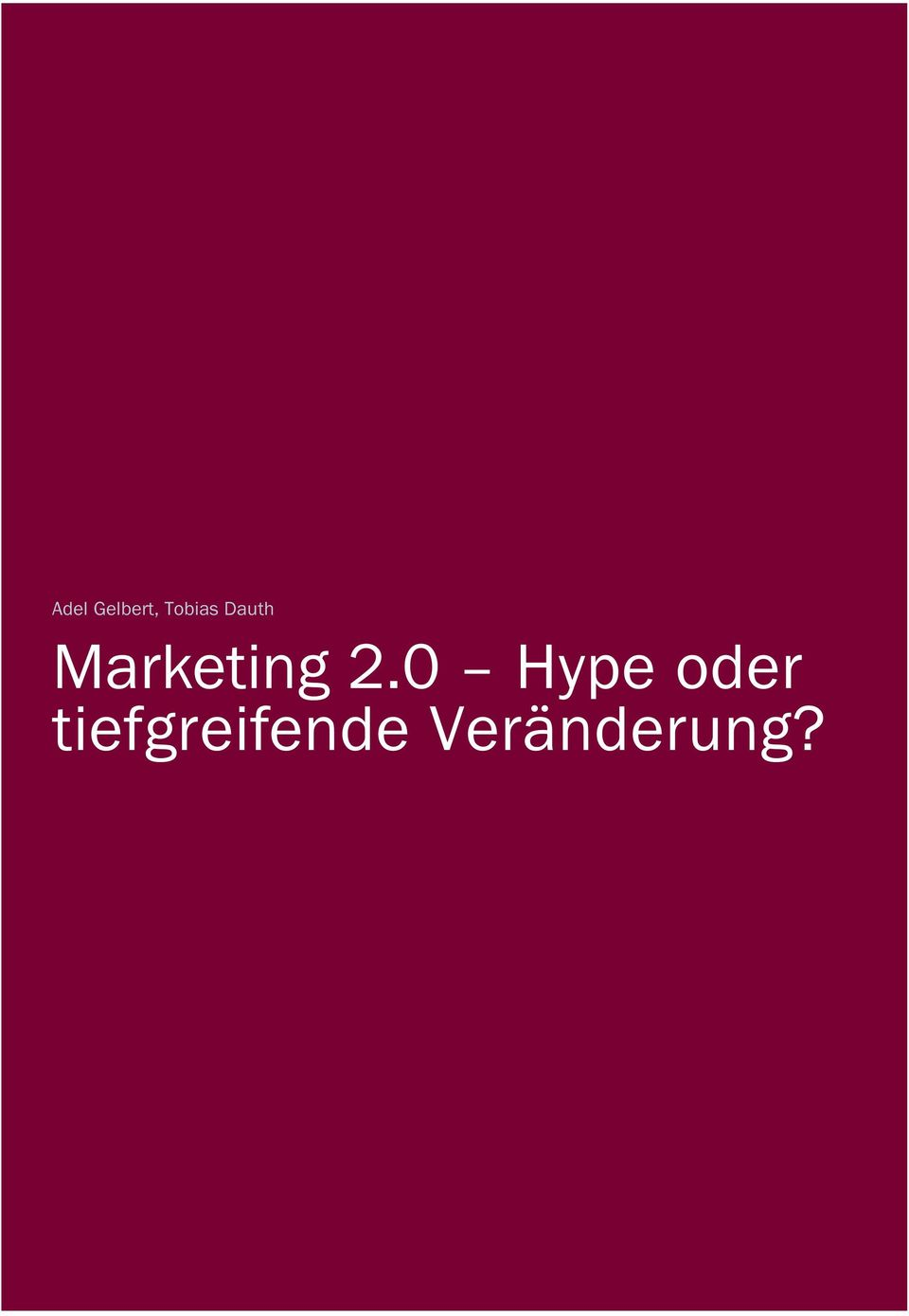 Marketing 2.