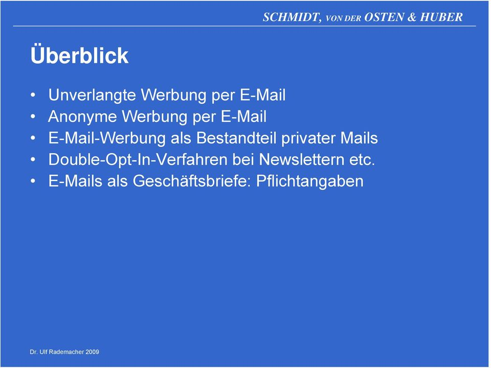 privater Mails Double-Opt-In-Verfahren bei
